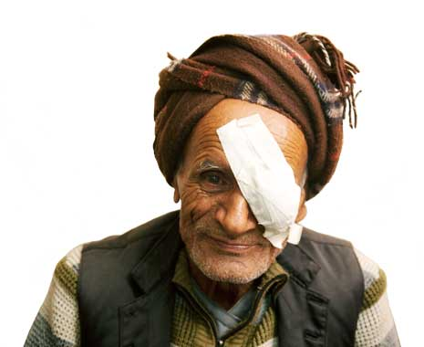 Man receives the gift of sight saving surgery on his left eye.
